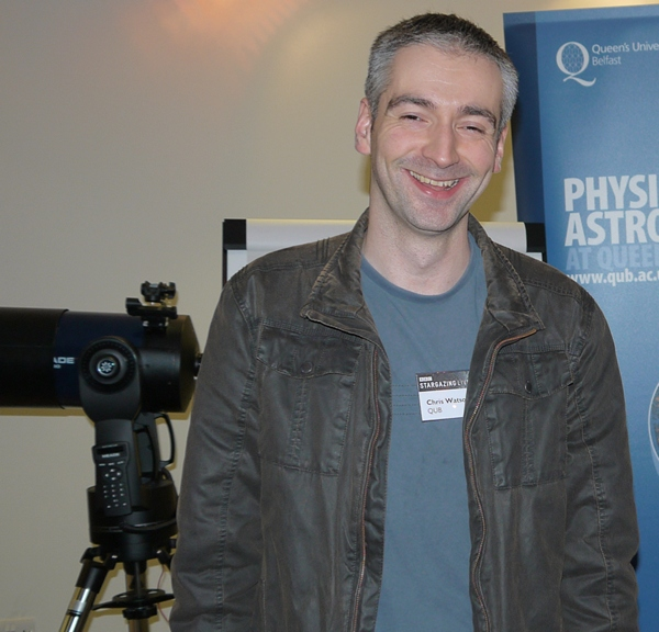 "20th February – Dr Chris Watson – ""Mapping the surfaces of stars – giant spots and shadows"""