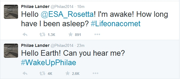 Philae is Alive!