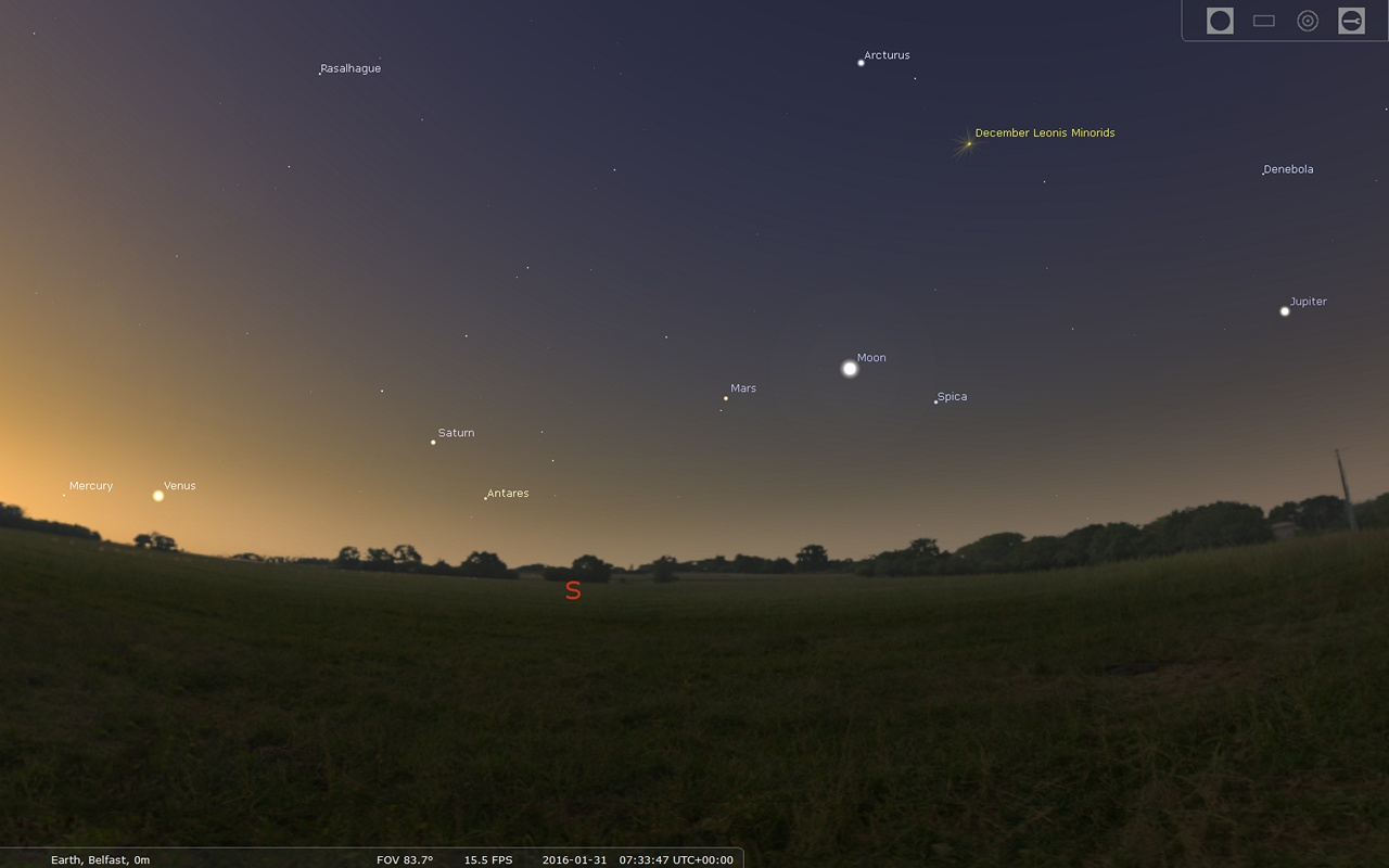 See All Five Naked Eye Planets at Once