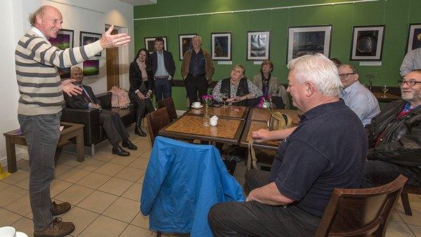Prof Burton at the Clotworthy Launch Picture: Bernie Brown