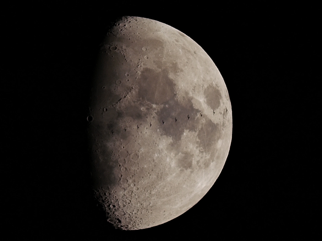 ISS Lunar Transit Photographed from Sprucefield